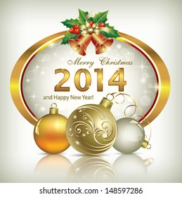 2018 merry christmas happy new year stock vector 744183943 christmas greeting card 2014 m4hsunfo Images