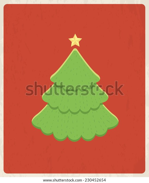 Christmas greeting card design. Vector background