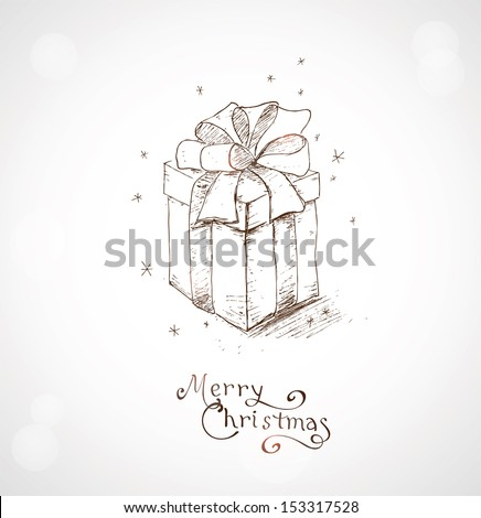 Christmas greeting card hand draw background stock vector royalty christmas greeting card hand draw background with xmas design and merry christmas lettering m4hsunfo
