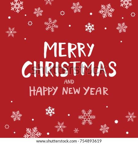 Christmas Greeting Card Hand Drawn Design Stock Vector Royalty Free