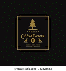 Christmas greeting card, and Happy New Year Message Concept