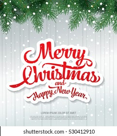 Merry Christmas And Happy New Year Images, Stock Photos & Vectors ...