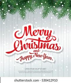 christmas greeting card merry christmas and happy new year - Merry Christmas And Happy New Year Images