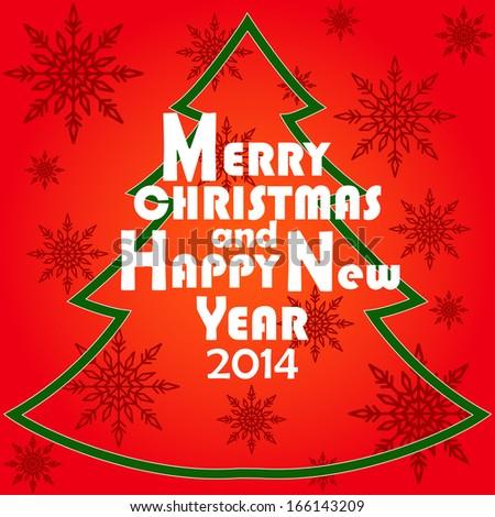 Christmas Greeting Card Merry Christmas Happy Stock Vector (Royalty ...