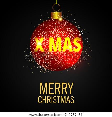Christmas greeting card merry christmas lettering stock vector christmas greeting card merry christmas lettering with christmas tree vector illustration m4hsunfo
