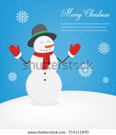 Christmas Greeting Card Merry Christmas Wishes Stock Vector (Royalty ...