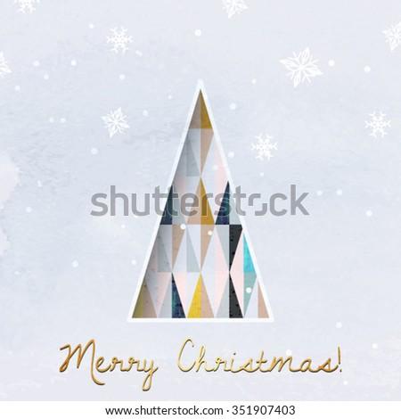 Christmas greeting card modern christmas tree stock vector royalty christmas greeting card modern christmas tree vector background geometric christmas tree scandinavian design m4hsunfo