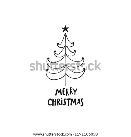 Christmas Greeting Card On White Background Stock Vector Royalty