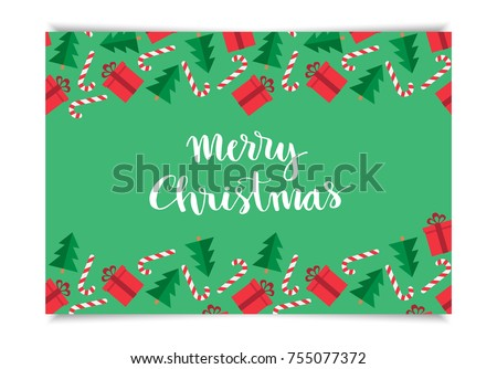 Christmas greeting card template merry christmas stock vector christmas greeting card template merry christmas hand drawn lettering on pattern with gift christmas m4hsunfo