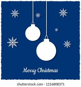 Christmas greeting card. Vector illustration