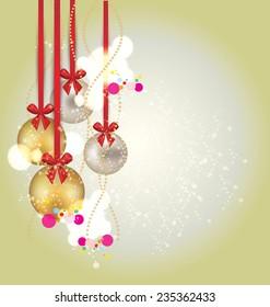 Christmas Greeting Card. Vector illustration.