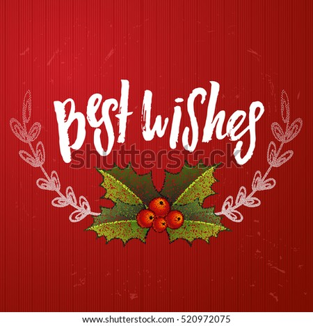 christmas greeting card with wreath happy new year xmas vector background hand drawn