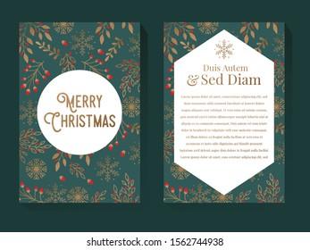 Christmas Greeting Illustration Design Template