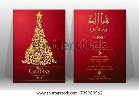 Christmas menu card template christmas dinner menu template best.