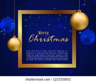 Christmas Greeting Template, Christmas background.