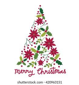 Christmas greeting with tree design