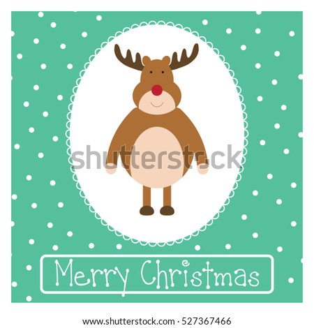Christmas greetings card funny holiday illustration stock vector christmas greetings card funny holiday illustration reindeer postcard with merry christmas typography m4hsunfo