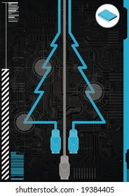 Christmas Greetings card for a technology company.