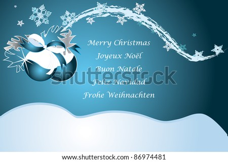 Christmas greetings german italian french spain stock vector christmas greetings in german italian french spain and english in blue m4hsunfo