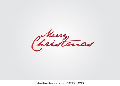 Christmas greetings text calligraphic lettering design
