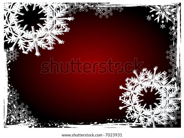 Christmas - grunge winter white snowflakes background