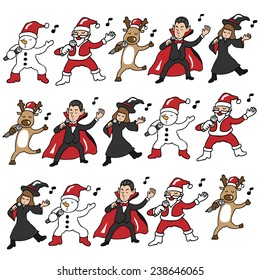 Christmas and Halloween team singing pattern