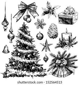 Christmas hand-drawn elements