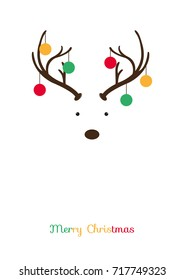 Christmas and Happy New Year card background, Rasta color, Post card size, Flat style vector illustration.