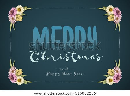 Christmas Happy New Year Message Board Stock Vector (Royalty Free ...