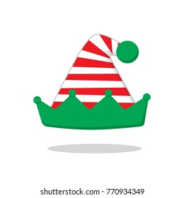 Christmas hat with red striped