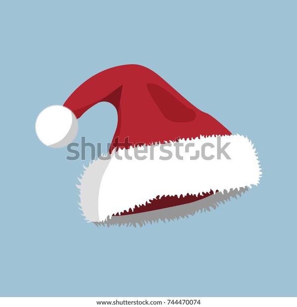 Christmas Hat Cartoon.Christmas Hat Xmas Icon Cartoon Style Stock Vector Royalty