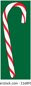 Christmas holiday candy cane stripes red white green isolated vector illustration