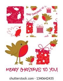 Christmas Holiday greeting patterns