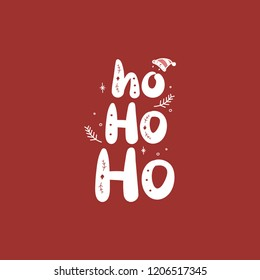 Christmas holiday Ho Ho Ho greeting typography style
