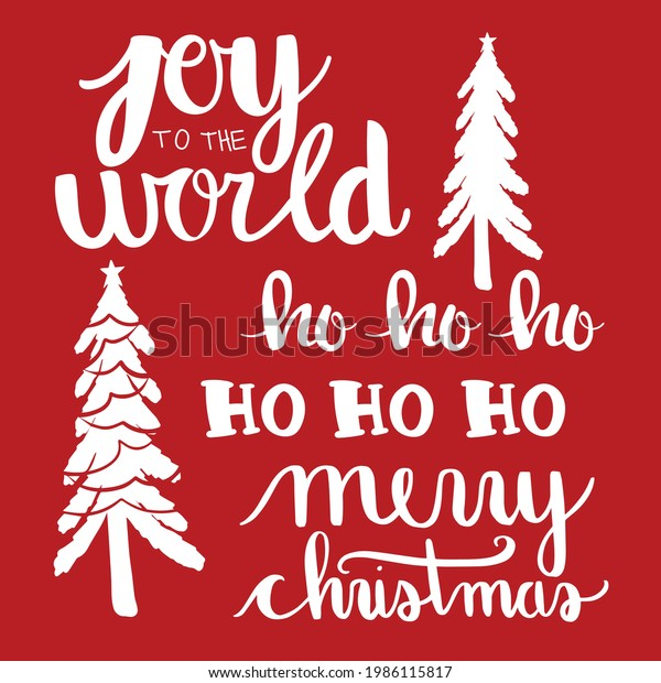 Christmas Holiday Phrases Vector Set