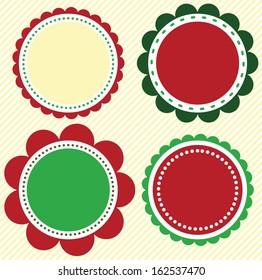 Christmas and holiday scallop set