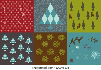 Christmas holidays colorful pattern