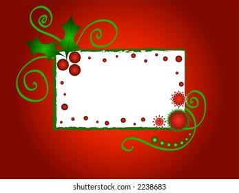 Christmas holly frame - VECTOR