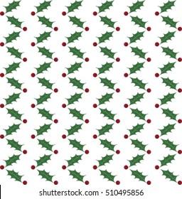 Christmas holly pattern stripes