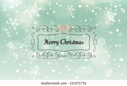 Christmas horizontal banner.Vector illustration