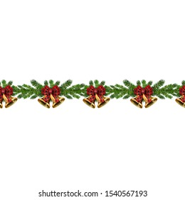 Christmas horizontal seamless border background