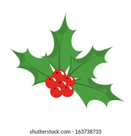 Christmas icon holly berry. Vector illustration