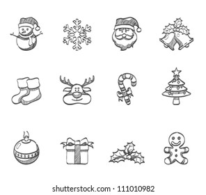 Christmas icon series in sketch