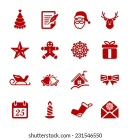 christmas icon set 2, vector eps10.