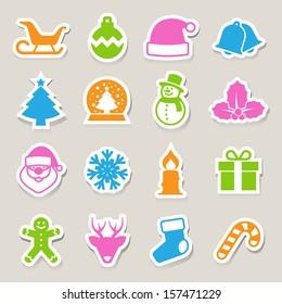 Christmas icon set.Illustration EPS10