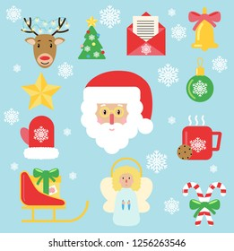 christmas icon vector holly flat style