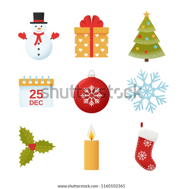 Christmas Icon Vector Winter Icons Set Stock Vector Royalty