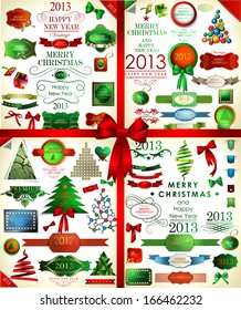 Christmas icons set and elements .Vector illustration