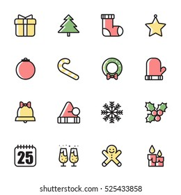 Christmas Icons Set / vector illustration