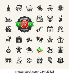 Christmas icons set.Vector
